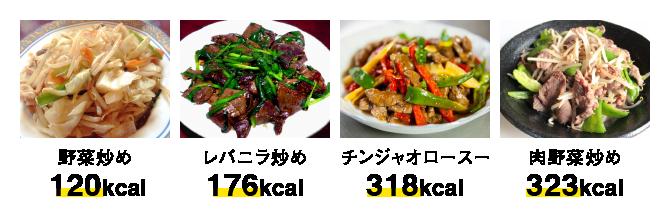 炒め物のカロリー比較